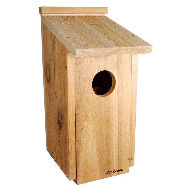 WL-24338 Woodlink Wooden Screech Owl Kestrel Bird House Nesting Box with Wood Shavings