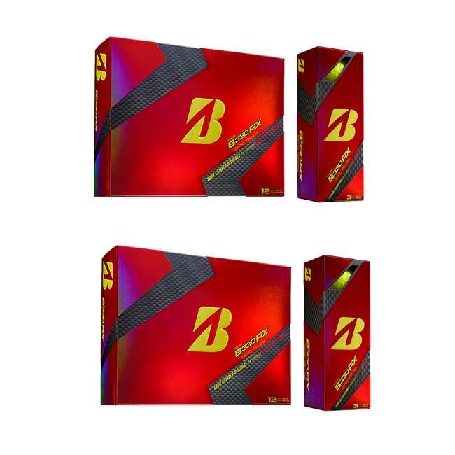 GDYX6D Bridgestone Tour B330-RX AMATOURcore Speed & Distance Yellow Golf Balls, 2 Dozen