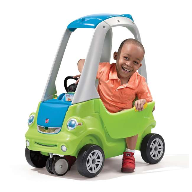 845100-U-A Step2 Toddler Push Ride On Toy Car for Kids Easy Turn Coupe in Green (Open Box) 1