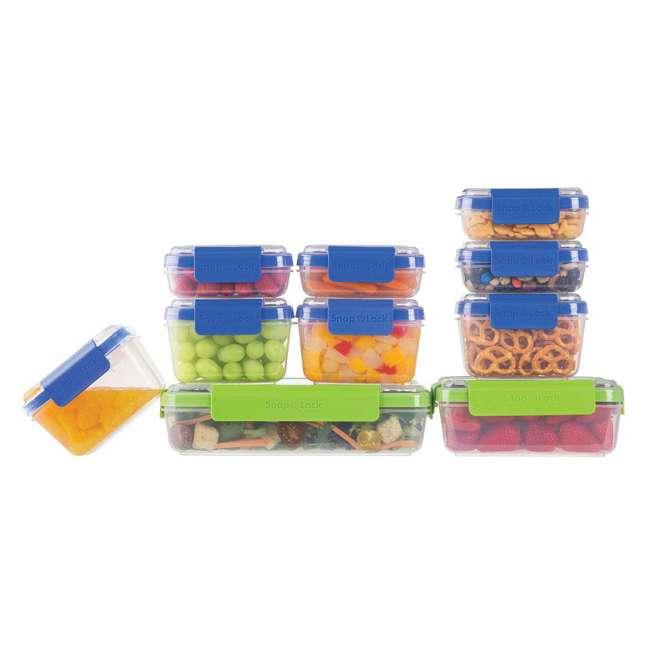 SNL-20SETBBB Progressive SNL-20SETBBB Snaplock Snack To Go Storage Stacking Container Set 1