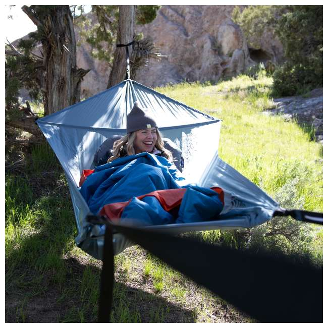 09LHBL01C Klymit 09LHBL01C Lay Flat Outdoor Camping Hammock with Adjustable Dual Straps 4