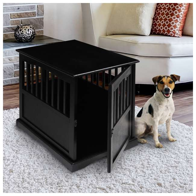 600-42 Casual Home Medium Pet Crate End Table, Black 1