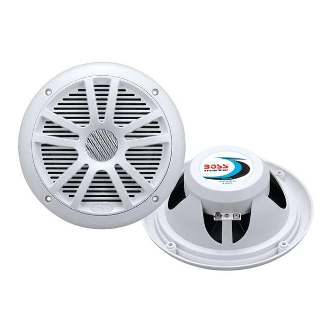MR6W Boss Audio MR6W 6.5-Inch 180W Dual Cone Marine Speakers - White (Pair)