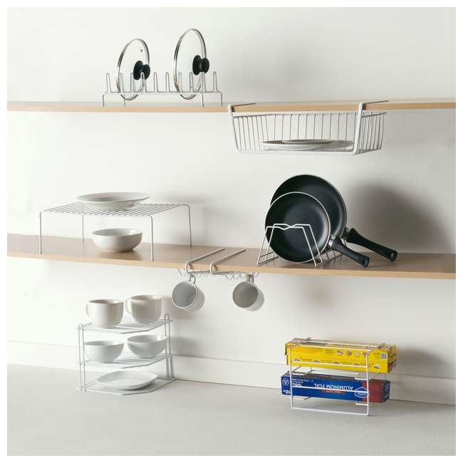 CD30626 + SB01421 + CS30363 + SR30371 Home Basics Can Rack & Spice Rack & Step Rack & Hanging Rack 9