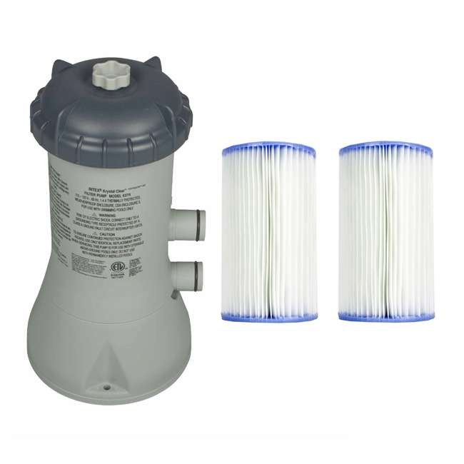 28637EG + 29002E Intex 1000 GPH Easy Set Pool Filter Pump + Filter Cartridges