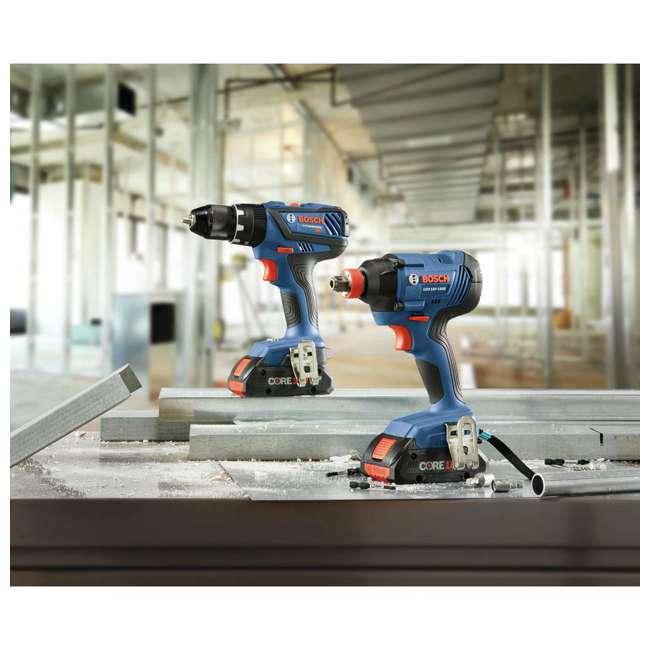 "GXL18V-239B25-RT-RB Bosch 18V 1/2"" Hammer Drill Driver & Impact Driver Kit (Certified Refurbished) 5"