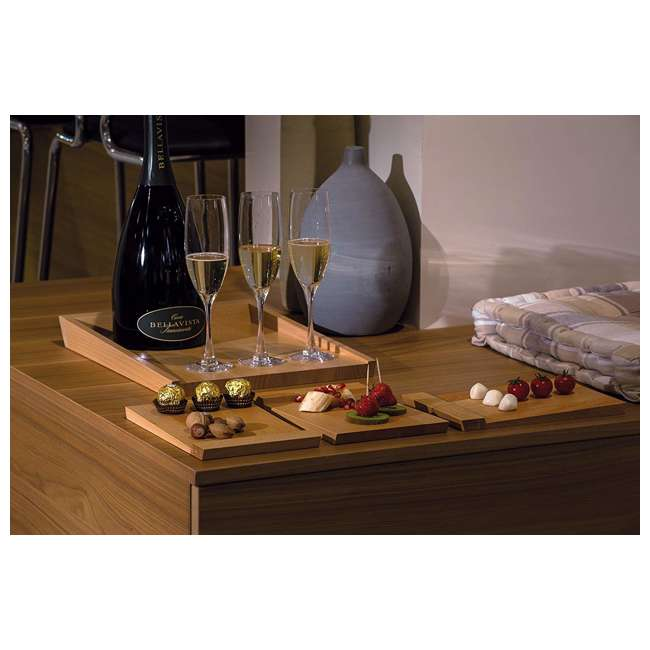 65 Artelegno Fine Solid Beech Wood Square Roma Serving Tray, Natural Lacquer Finish