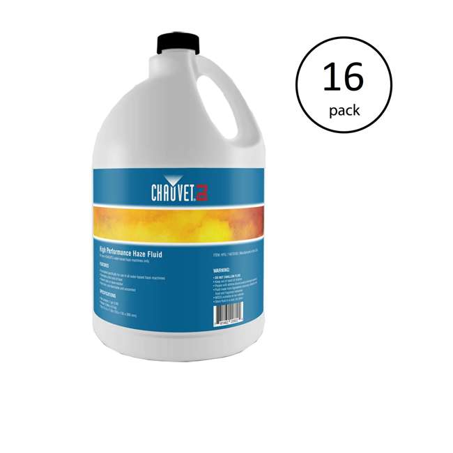 16 x HFG-FLUID Chauvet DJ Hurricane HFG Water Smoke Fog Haze Machine Fluid, 1 Gallon (16 Pack)