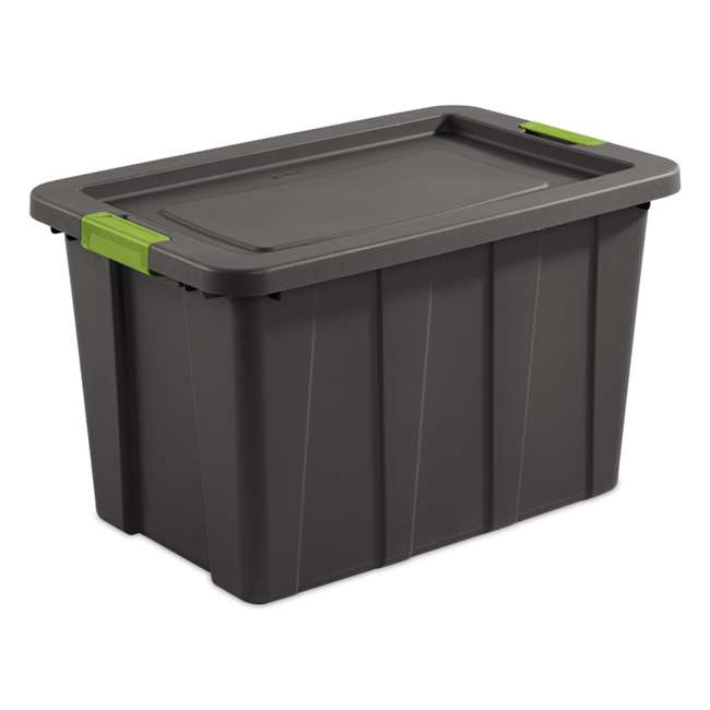4 x 15273V04 Sterilite Tuff1 Latching 30 Gallon Plastic Storage Tote Container & Lid (4 Pack) 1