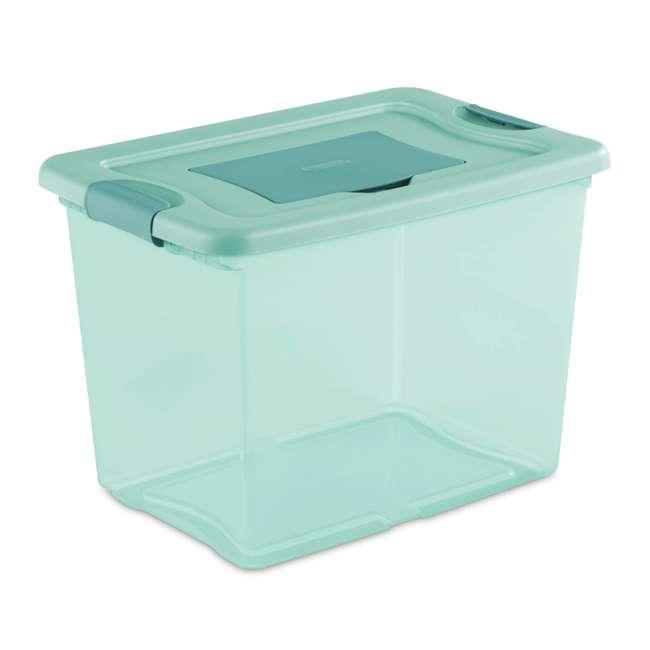 6 x 15057Y06-U-A Sterilite 25 Quart Fresh Scent Plastic Storage Box Container (Open Box) (6 Pack) 1