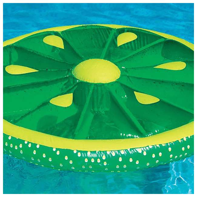 6 x 9054G-U-A Swimline 60-Inch Inflatable Swimming Pool Lime Slice Float (Open Box) (6 Pack) 2