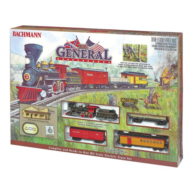 BT-00736 Bachmann Trains The General Ho Scale Electric Model Train Set