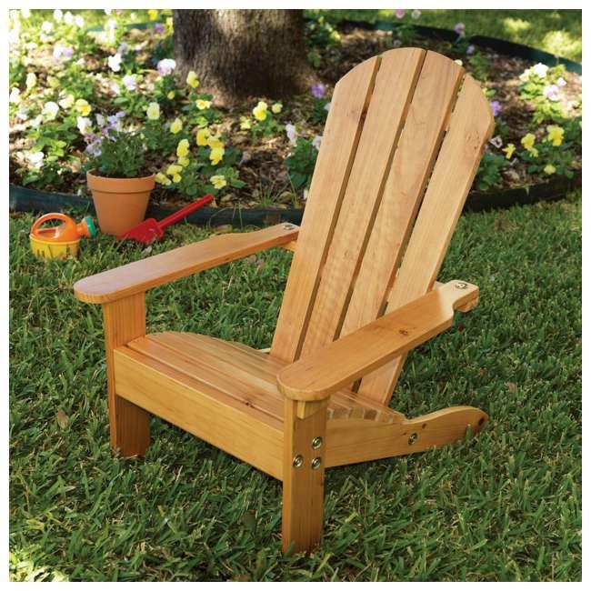 83 KidKraft Childrens Outdoor Patio Lawn Kid Sized Wooden Adirondack Chair, Honey 2