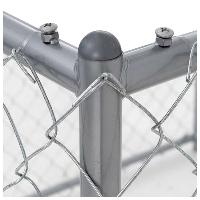 CL-41028EZ Lucky Dog 10 x 5 x 4 Foot Chain Link Dog Kennel Enclosure (2 Pack) 3