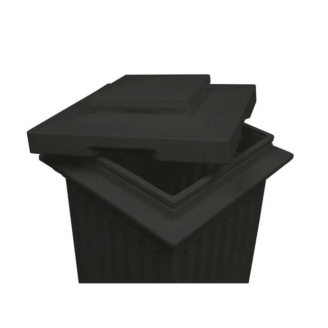 SV-COL-BLK Good Ideas Savannah Outdoor Patio Column 30 Gallon Storage and Waste Bin, Black 1