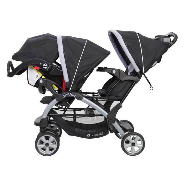SS76B51A Baby Trend Sit N Stand Infant and Toddler Double Stroller 1