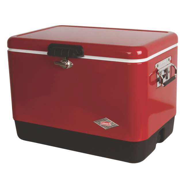 4 x A-3000003539-W Coleman 54-Quart Steel Belted Ice Cooler, Red (4 Pack) 2