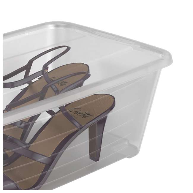 SHB-10-U-A 20-Pk Life Story 5.7L Shoe & Closet Storage Stacking Container, Clear (Open Box) 2