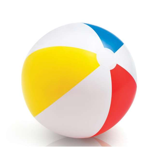 59020EP Intex Classic Inflatable Glossy Panel Colorful Beach Ball - (Set of 2) | 59020EP 1