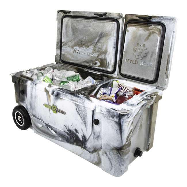 HC75-17P WYLD 75 Quart Pioneer Dual Compartment Insulated Cooler w/ Wheels, Prairie Camo 4