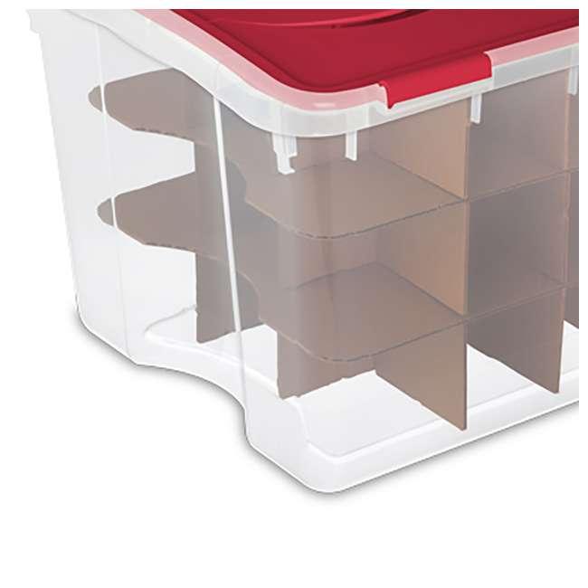 12 x 19096606-U-A Sterilite 48 Quart Holiday Christmas 45 Ornament Storage Box (Open Box)(12 Pack) 3