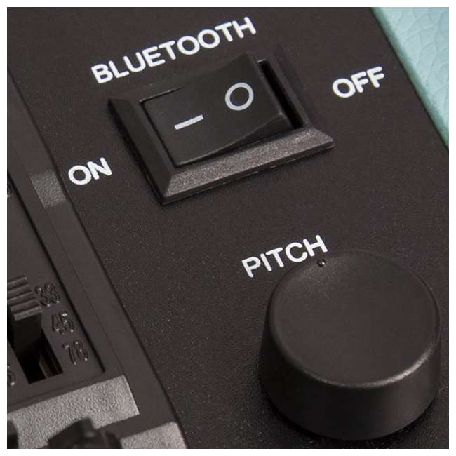 CR8005D-TW Crosley Cruiser Deluxe Portable Bluetooth Turntable, Tweed 5