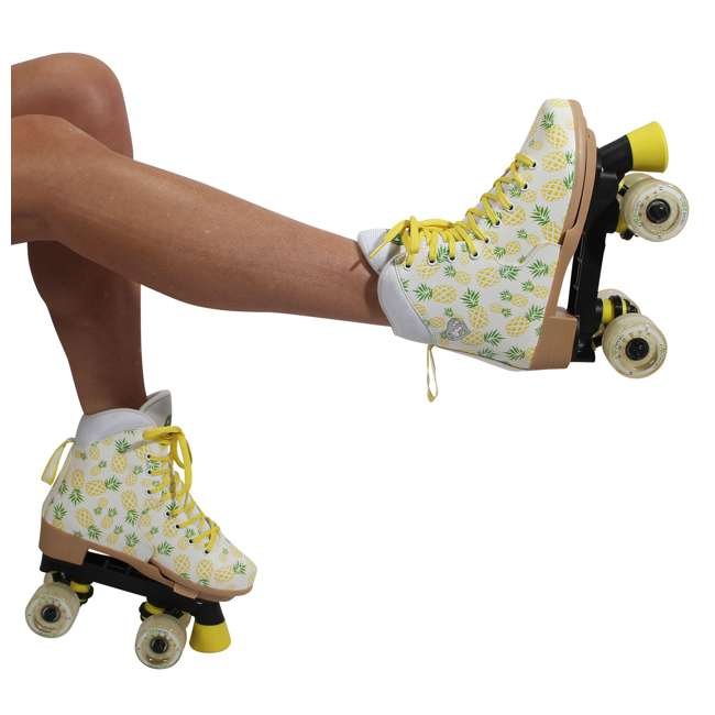 168219 Circle Society Craze Crushed Pineapple Kids Skates, Sizes 3 to 7 9