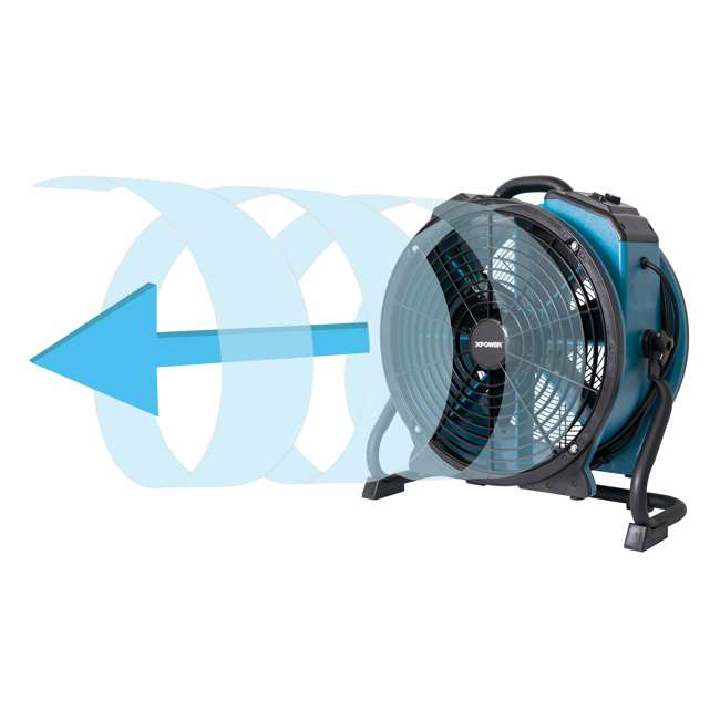 FC-420 XPOWER FC-420 Pro Air 18 Inch 3600 CFM 360 Degree Rotation Utility Fan, Blue 8