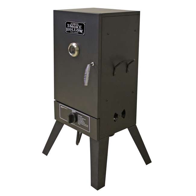 26142G Smoke Hollow 26142G 26-Inch Freestanding Propane Gas Outdoor Smoker, Black