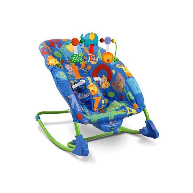 T4257 Fisher-Price Deluxe Animal Alphabet Infant-to-Toddler Rocker
