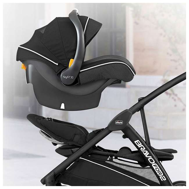 CHI-0707978133 Chicco BravoFor2 LE Standing/Sitting Double Stroller, Eucalyptus 1