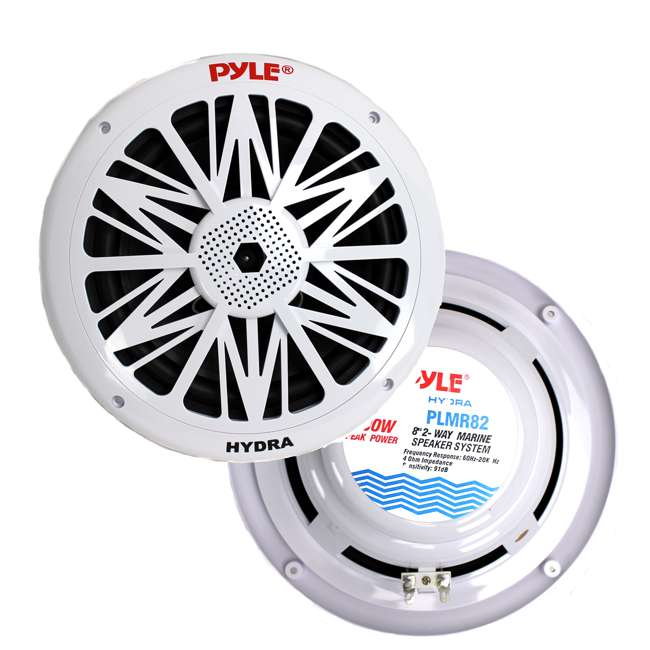 4 x PLMR82 Pyle PLMR82 8-Inch 300 Watt Waterproof Marine Speakers (8 Pack) 1