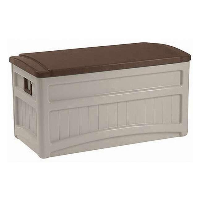 6 x DB8000B Suncast 73 Gallon Portable Deck Storage Box with Wheels (6 Pack) 1