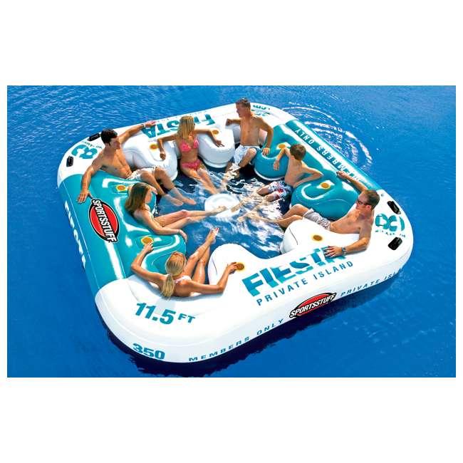 6 x 54-2010 Sportsstuff Fiesta Island Raft with Cooler (6 Pack) 2