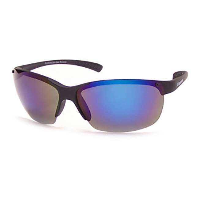 P-30 m. blk/gray/blue mir Coyote Eyewear P-30 Plastic Polarized Reader Premium Sunglasses, Black and Gray