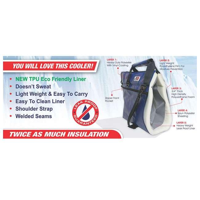 AOFI48SL AO Coolers AOFI48SL 48 Can Vinyl Double Insulated Fishing Soft Cooler, Silver 1