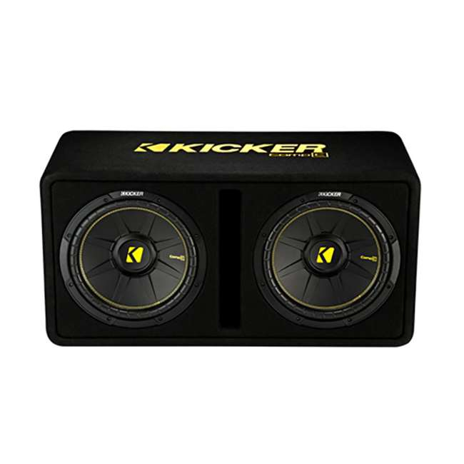 44DCWC122 + R1100M + 4GAMPKIT-SFLEX + BCAP2.2 Kicker 44DCWC122 12-Inch 1200W Subwoofers Subwoofer Enclosure with Amp with Capacitor with Wire 1