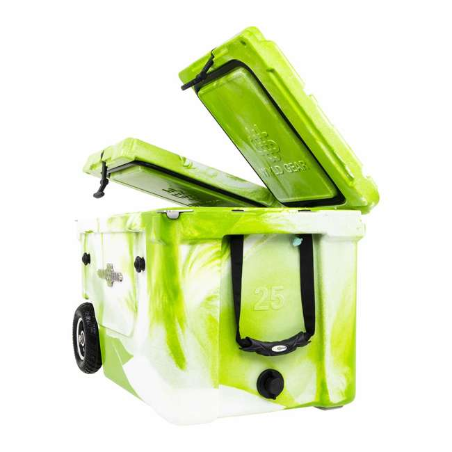 HC50-17GW WYLD HC50-17GW 50 Qt. Dual Compartment Insulated Cooler w/ Wheels, Green/White 3