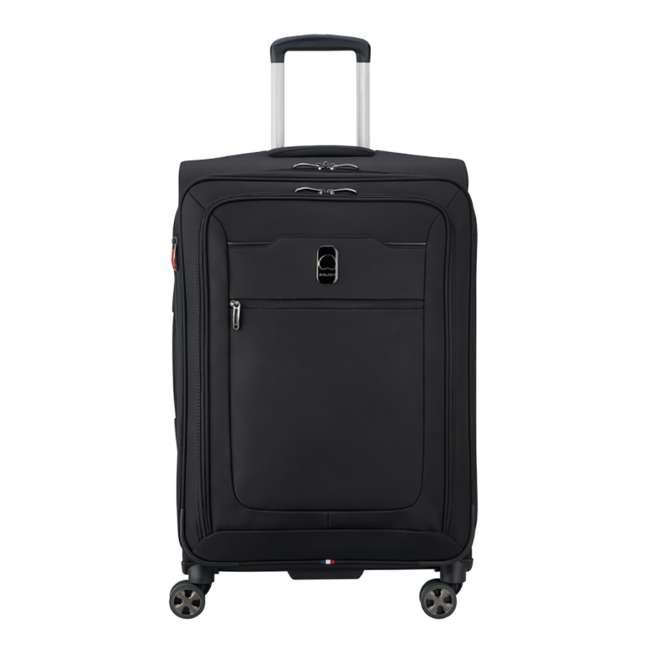 """40229182000 DELSEY Paris 25"""" Expandable Spinner Upright Hyperglide Luggage Suitcase, Black"""