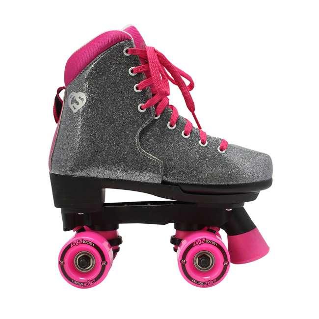 168222 Circle Society Bling Sizzling Pink Kids Skates, Sizes 3 to 7 2