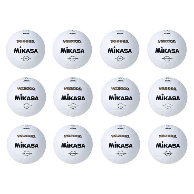 12 x VQ2000 Mikasa USA Size 5 Game Composite Volleyball, White (12 Pack)