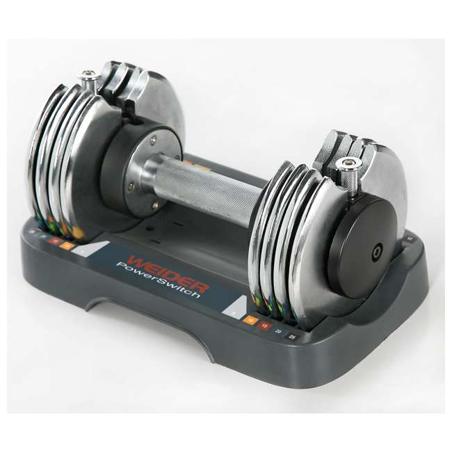 WSAW12508 Weider Speed Weight Adjustable Weightlifting Dumbbell 5-25 Pounds (Used)