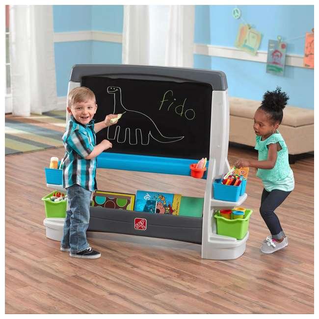 868500-U-A Step2 Jumbo Oversized Whiteboard and Chalkboard Art Easel for Kids (Open Box) 4