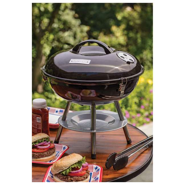 CCG-190 Cuisinart CCG-190 Portable Outdoor 14 Inch Tabletop Charcoal BBQ Grill, Black 1
