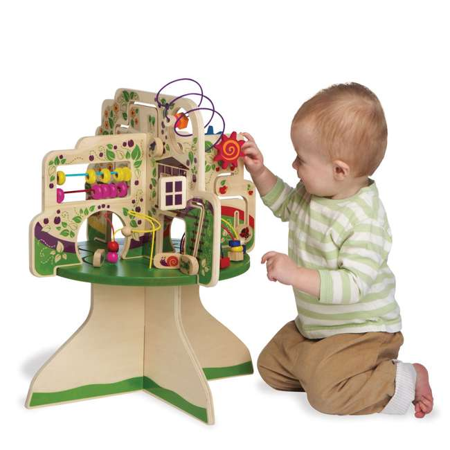 212280 Manhattan Toy Company Wood Tree Top Adventure Activity Play Center for Toddlers 3