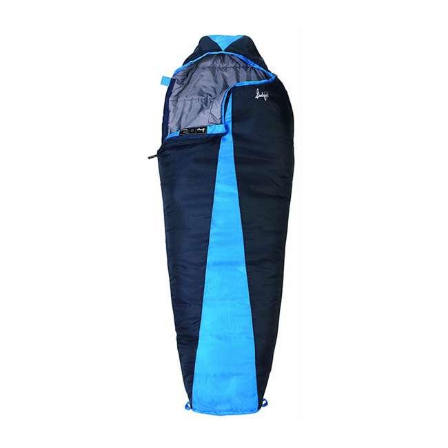 4 x 51723811RR Slumberjack Latitude 40-Degree Polyester Sleeping Bag, Blue (4 Pack) 1