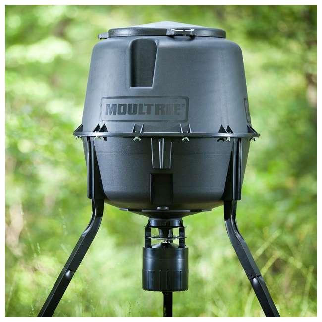 Moultrie 30 Gallon Hunting Tripod Deer Feeder w/ Digital