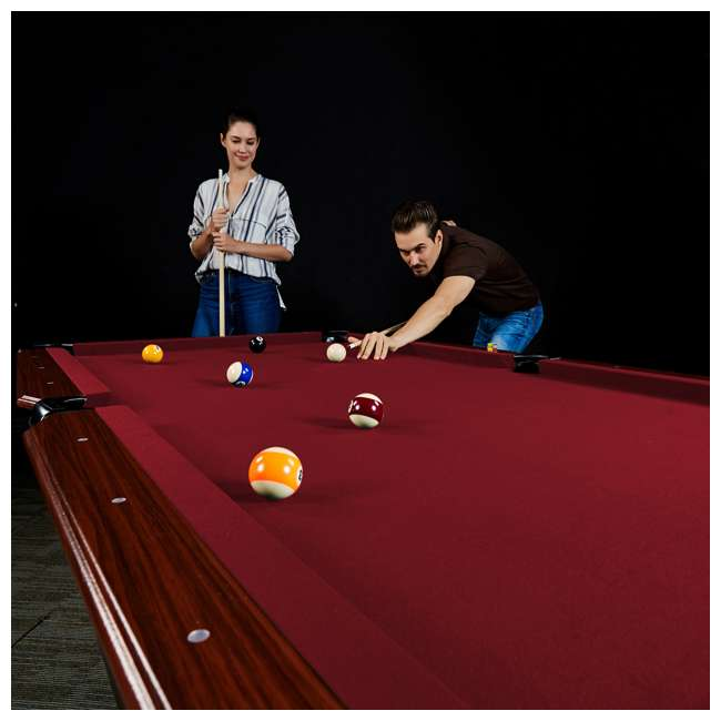 BL090Y19019 Lancaster 90 Inch Traditional Full Size Billiard Pool Table Set w/ Accessories 5
