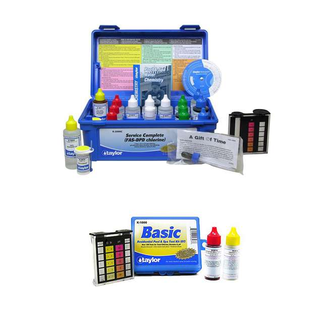 K2006C + K1000 Taylor K-2006C Complete Pool Test Kit w/ Additional Kit