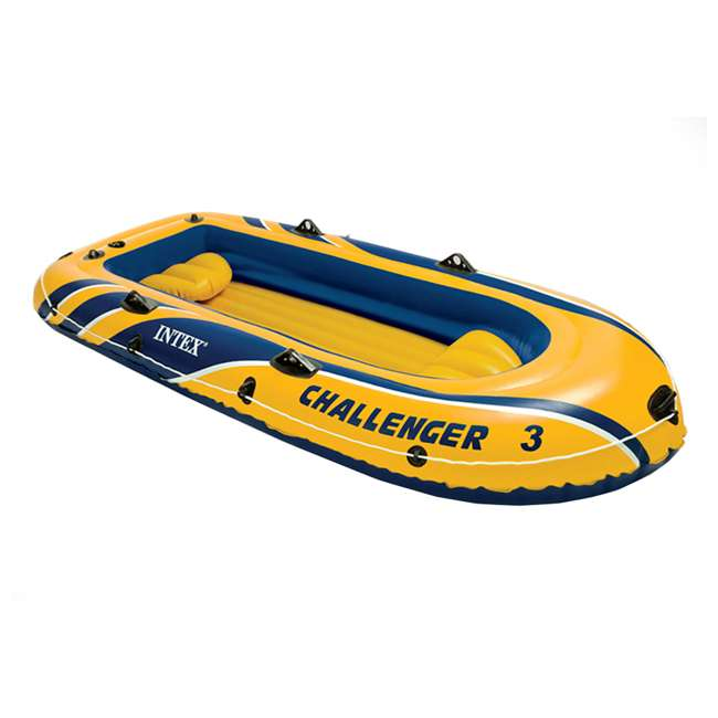 68370EP Intex Challenger 3 Inflatable Boat Set With Pump And Oars 1